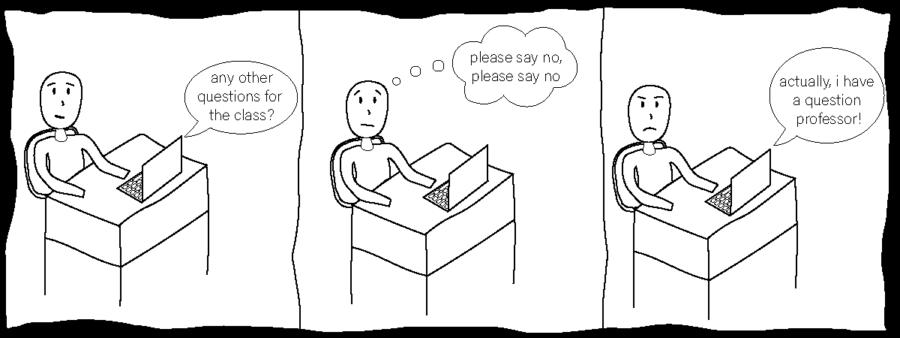 Ending of class cartoon