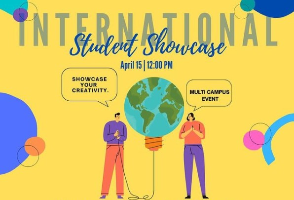 CSUSM's Office of Global Education hosted an International Student Showcase to highlight creative international students' work.