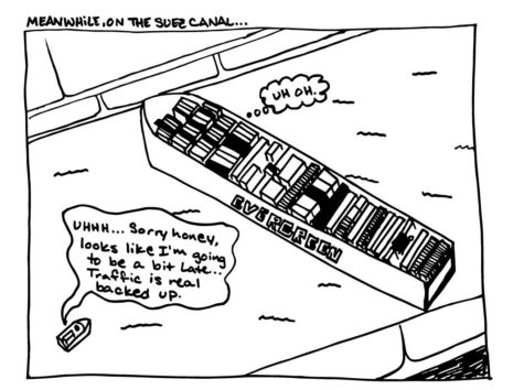 Cartoon: Meanwhile, on the Suez Canal...