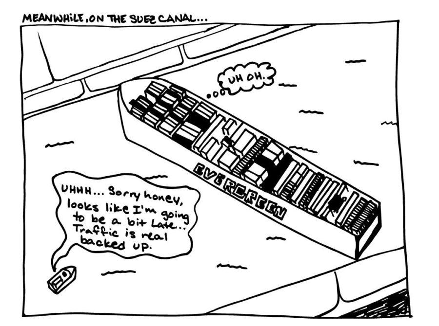 Cartoon: Meanwhile, on the Suez Canal...