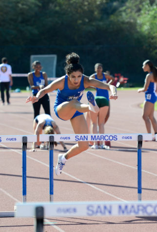 Amanda Cano will always remember competing in her first track meet because competing as a collegiate athlete for the first time meant a lot to her.
