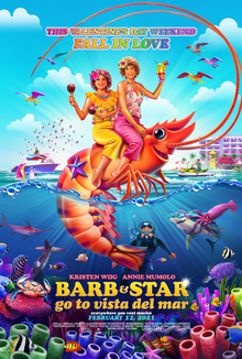 Kristen Wiig and Annie Mumolo star in new quirky comedy Barb and Star go to Vista Del Mar, now available to stream on Netflix.
