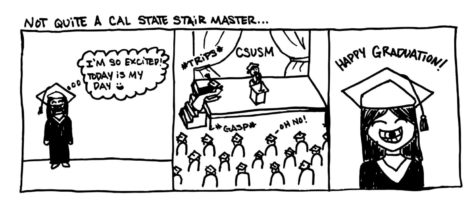 Cartoon: Not quite a Cal State Stair Master...