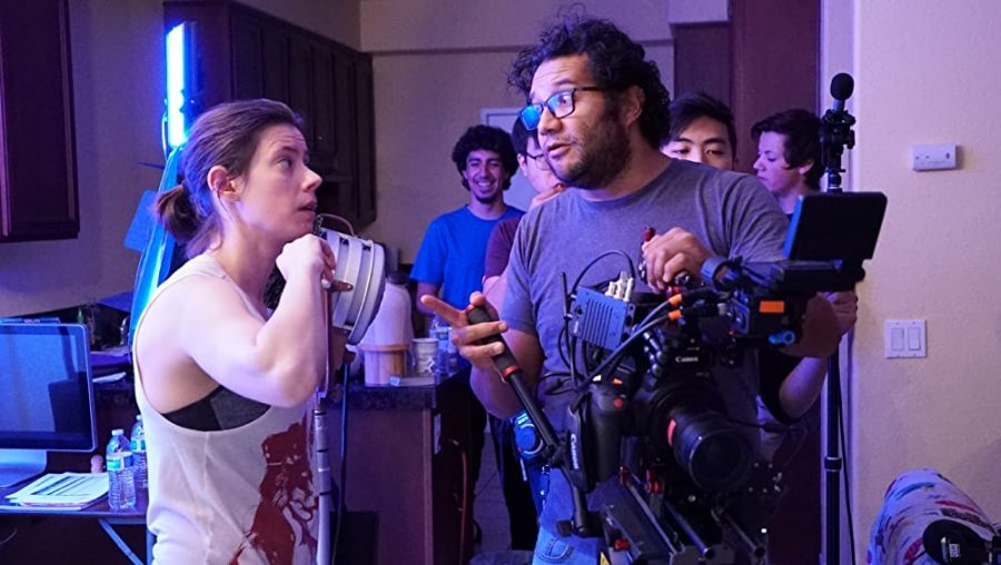 "Professor Skokan of CSUSM's LTWR and AMD departments on set for short film ""Sweet Potato Man"""