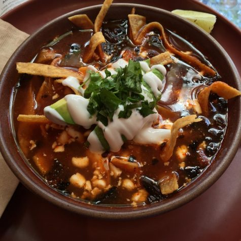 Tortilla soup is a great dish to enjoy during the fall season.
