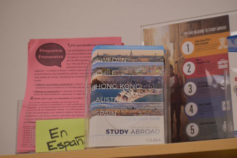 Students had the opportunity to learn about study abroad programs during the Study Abroad Fair.